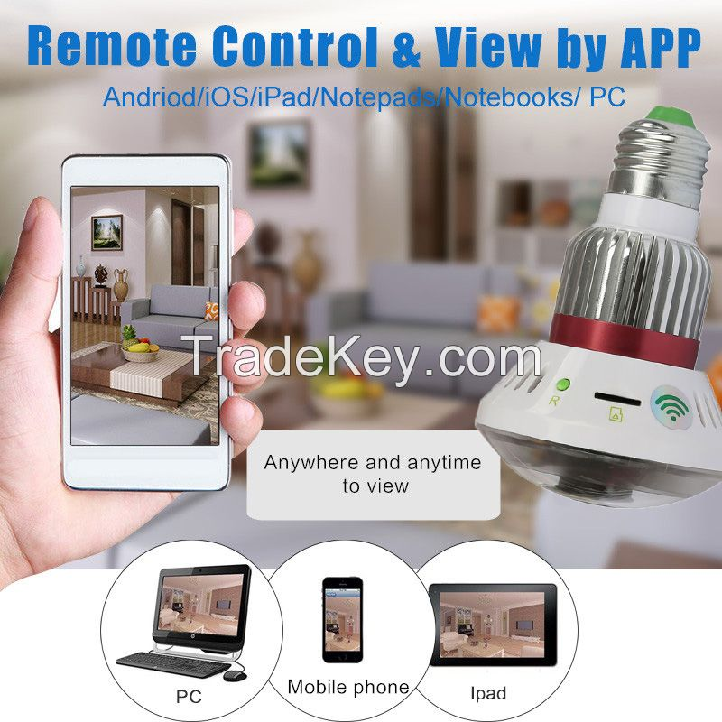 Mini Led Light Bulb Infrared night vision function Camcorder HD Camera
