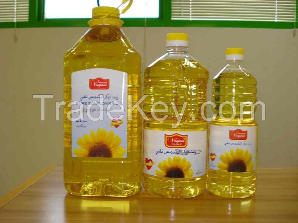 100 % Grade AA Refined and crude sun flower oil available
