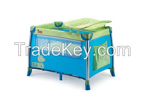 2015new model European standard baby playpen with wheels and canopy luxury baby folding playpen