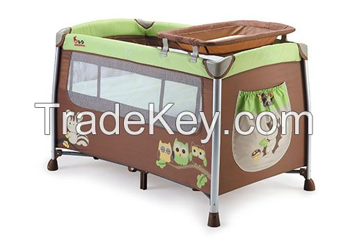 Chinese Manufacturer Wholesale Baby Playpen iron baby bed folding baby travel crib