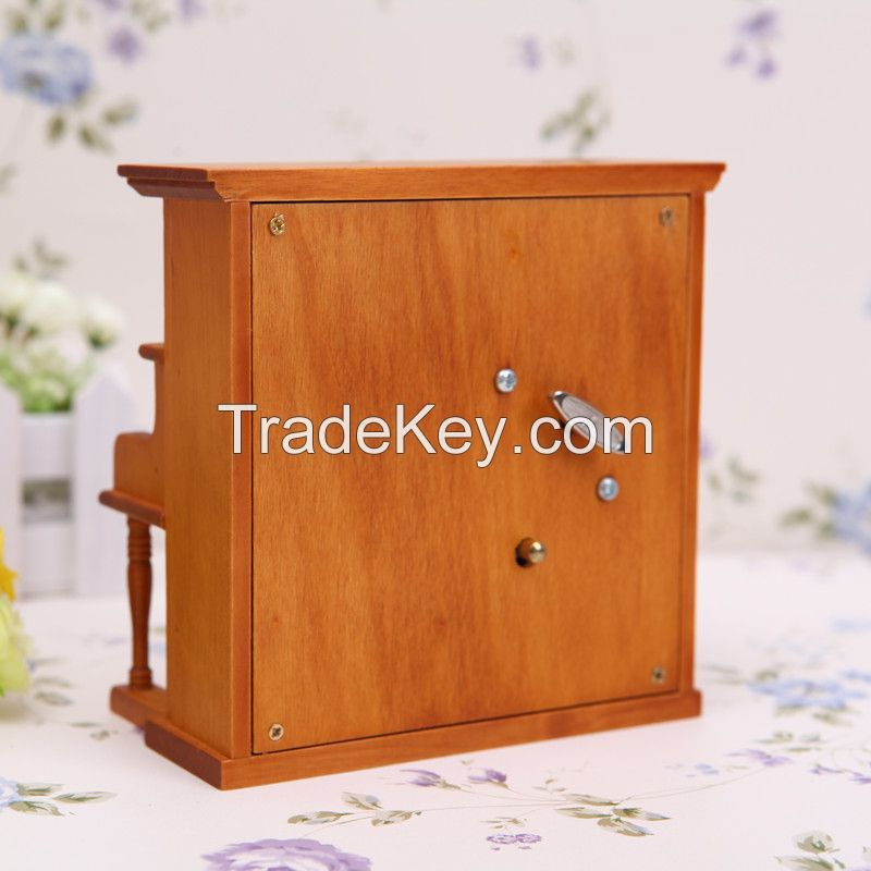 Best sale Natural Gift Wooden Upright Piano Music Box