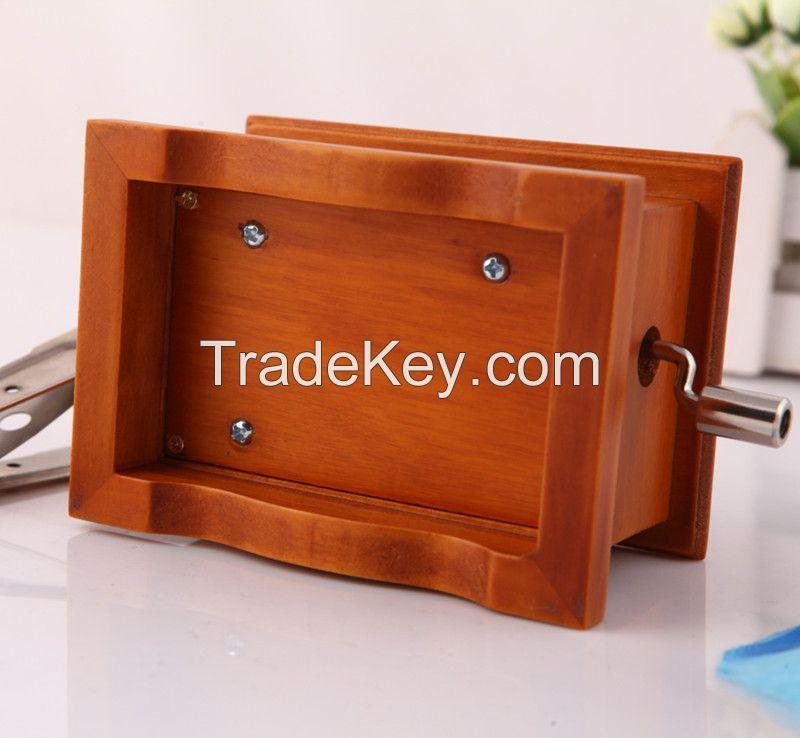 Homemade Songs wooden custom made hand crank gramophone music box