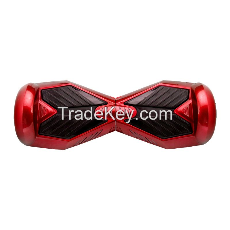 Hot CE approval Lithium battery two wheels self balance scooter with LED lights red color
