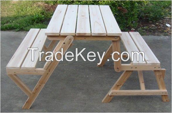 outdoor picnic bench