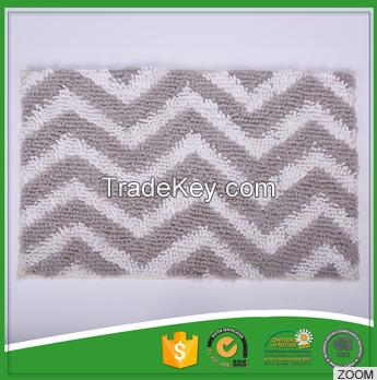 Wave Ceiling Pattern Jacquard Chenille Toilet Mat For Sale