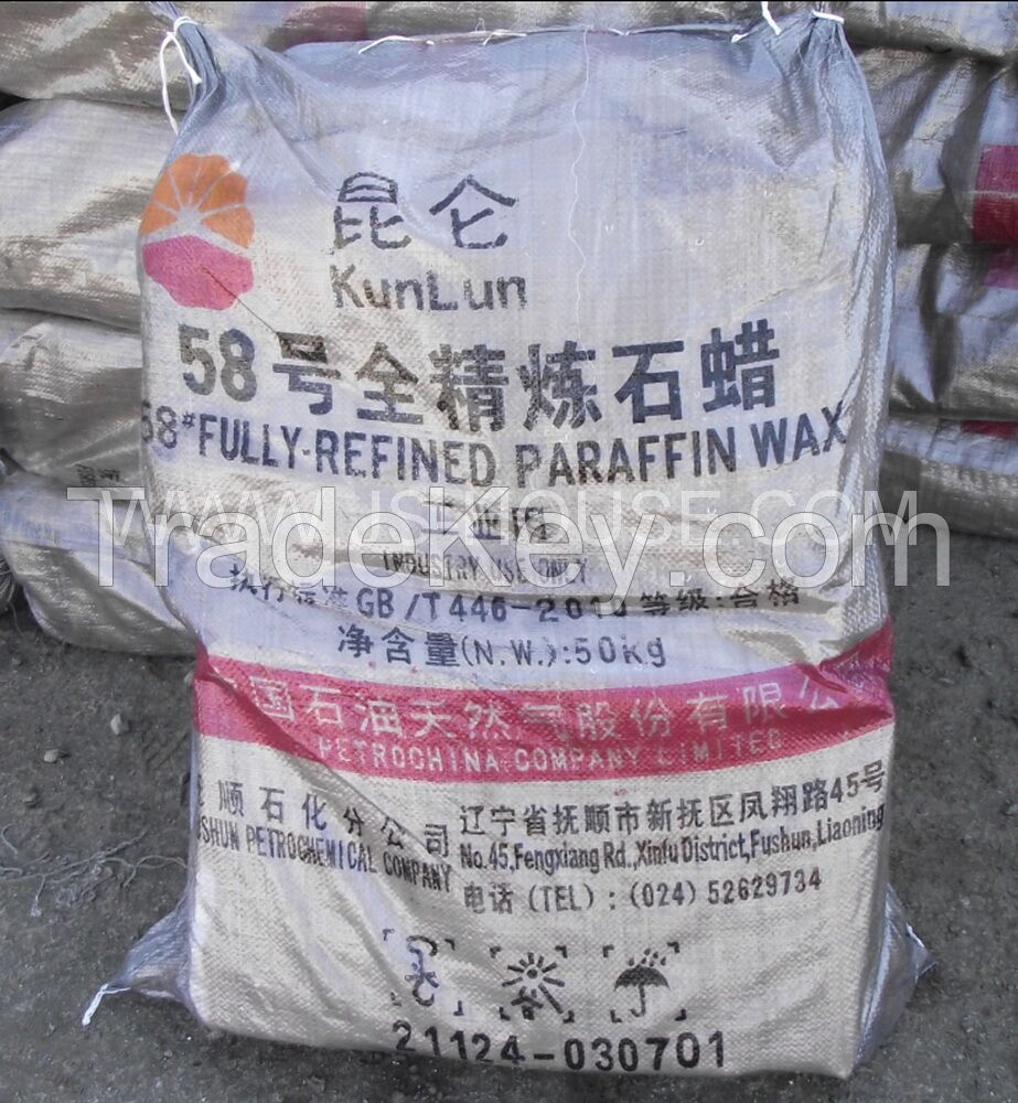 58# fully refined paraffin wax