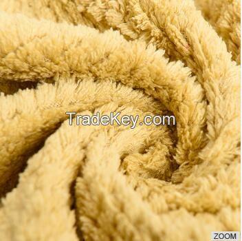 100% Polyester jacquard  coral fleece blanket