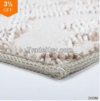 Fashion Design 100% Polyester Jacquard Chenille Doormats For Entrance
