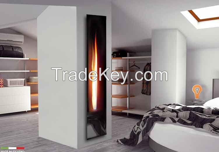 Mirror Flame Fireplace insert