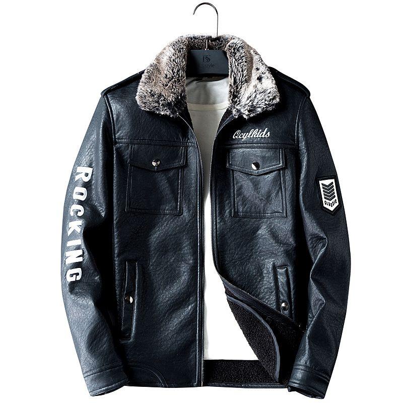 Leather Jacket Men Coats M-3XL High Quality Outerwear Men Business Autumn Male Jacket 1119