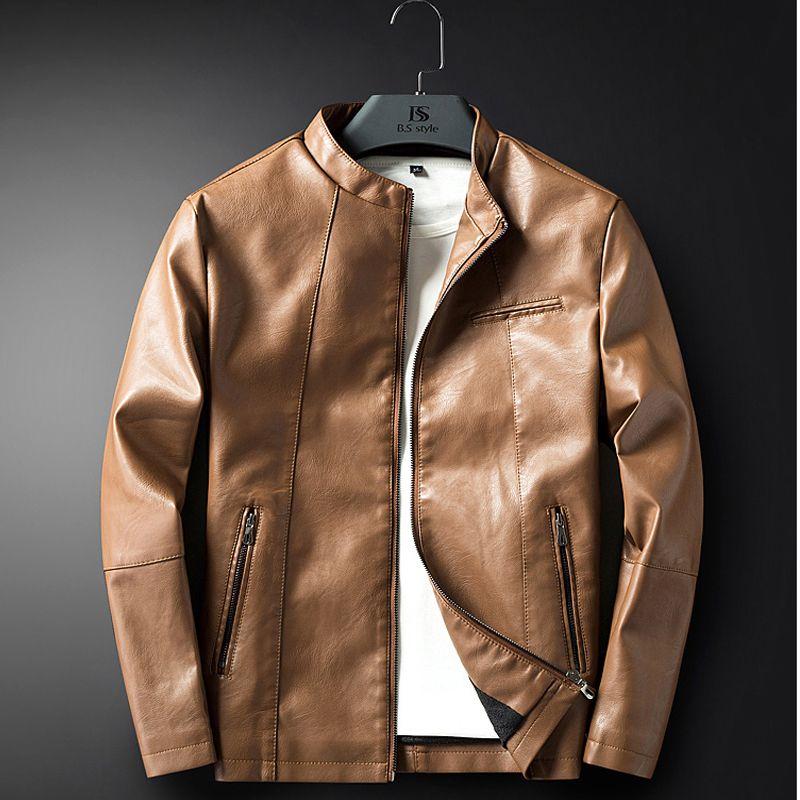 Leather Jacket Men Coats M-3XL High Quality Outerwear Men Business Autumn Male Jacket 1711