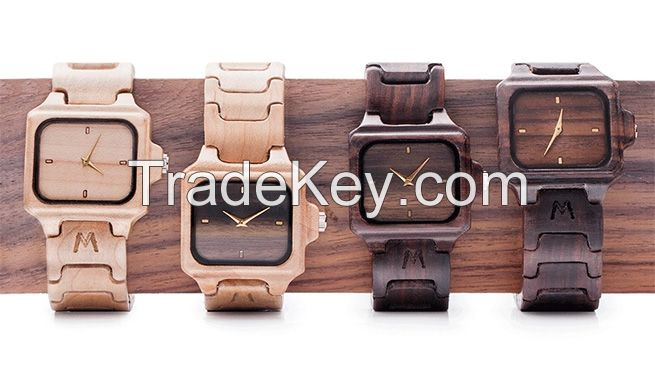 watch and wood handycraft