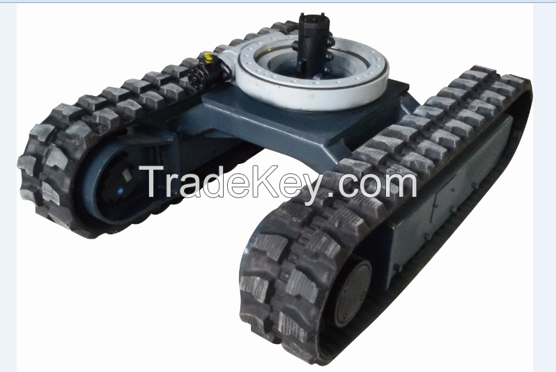 Rubber crawler track undercarriage