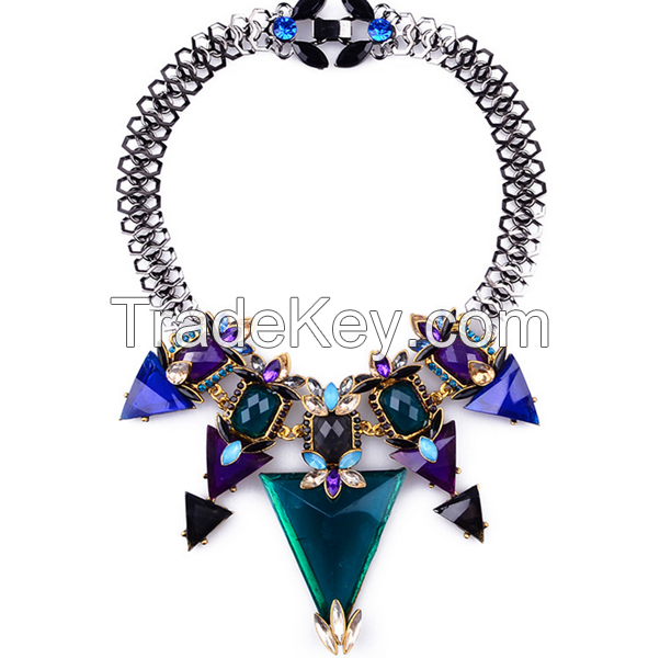 Zinc Alloy Material Type Necklaces Jewelry girls chunky necklace