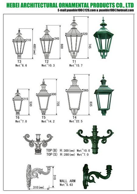 cast iron lamppost