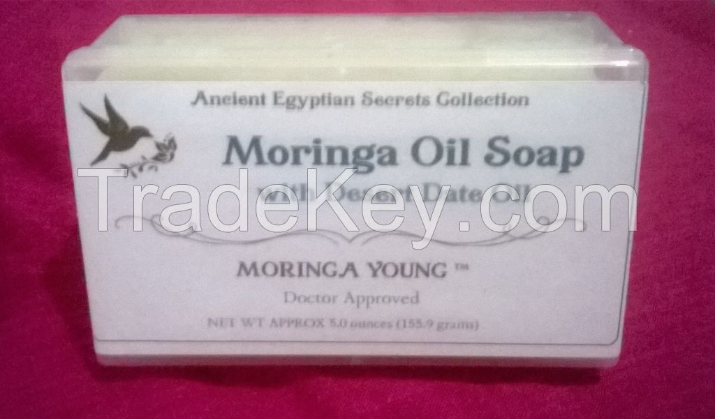 100% Organic Moringa Oil Soap Blend with Real Moringa Oil and Real Desert Date Oil.
