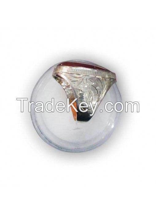 Aqeeq Silver Ring