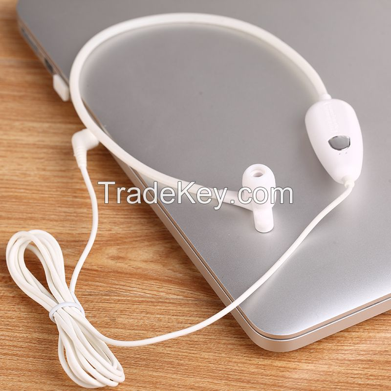 Anti-radiation air tube earphone with mic
