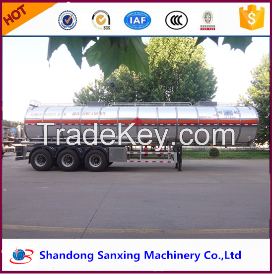 widely used High quality 48CBM aluminum fuel tanker trailer for sale