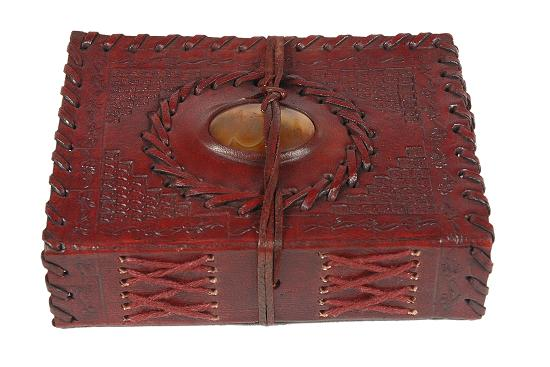 hand made leather note book and photo album