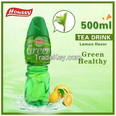 Houssy 100% Green Healthy 500ml Bottled Fruity Green Tea Drink