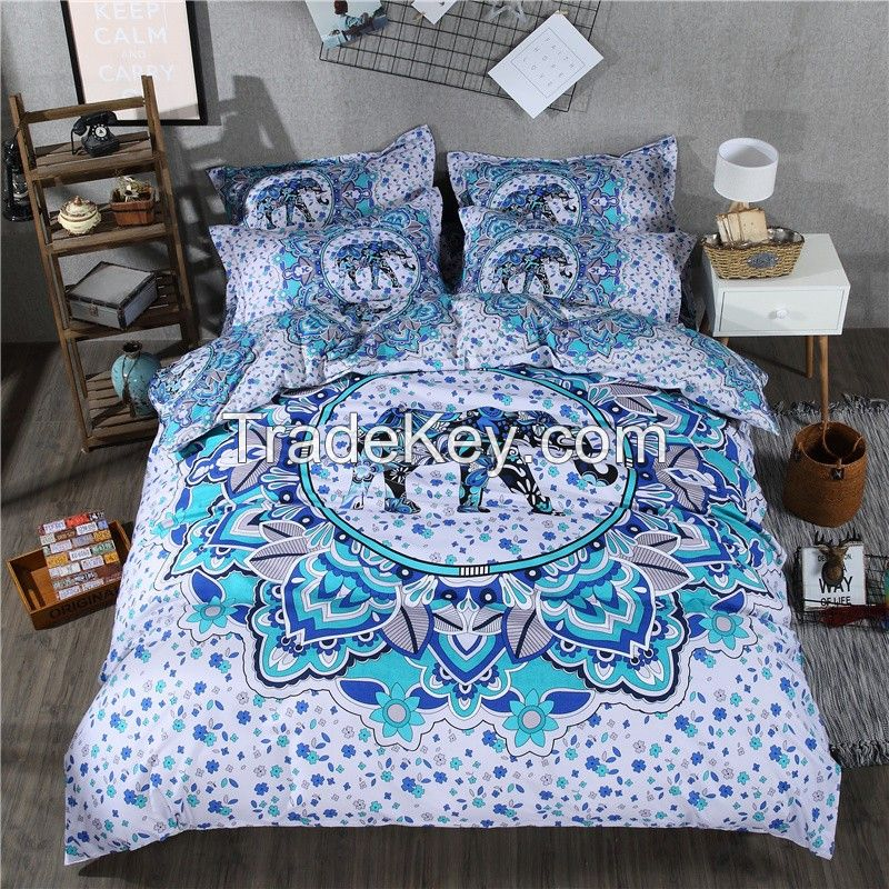 wholesale indian pattern printed bedsheets throws