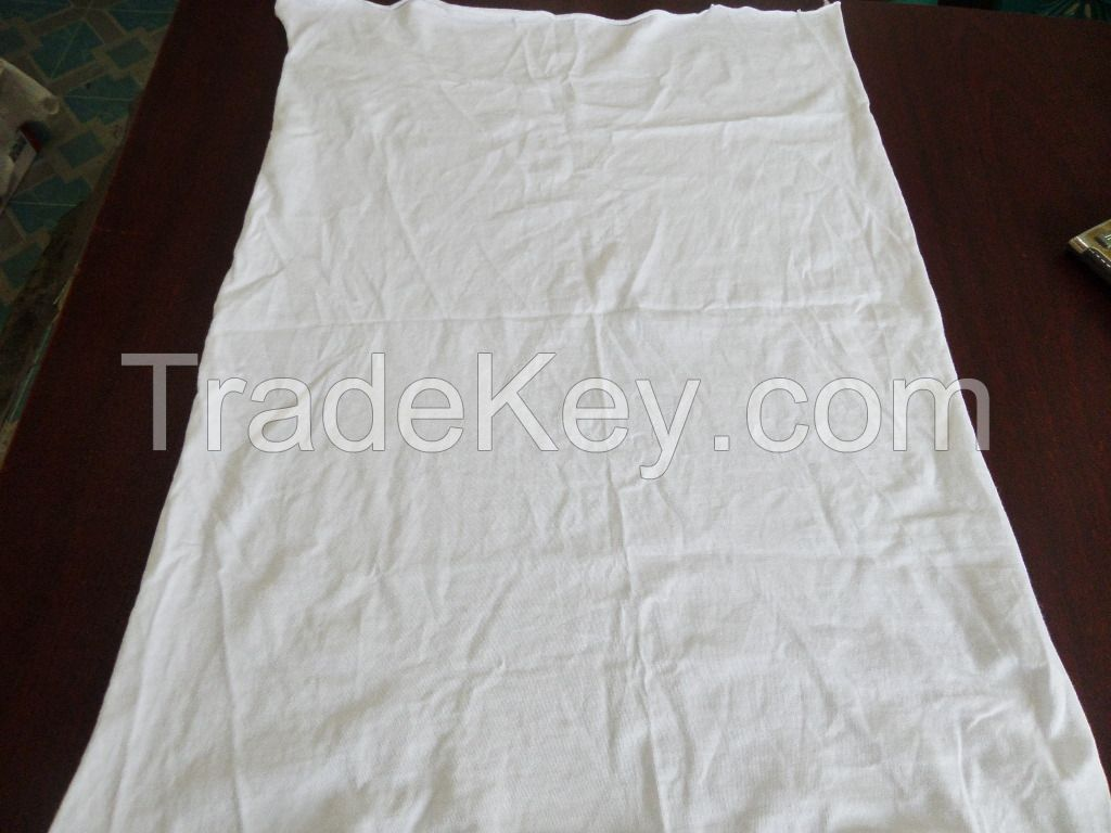 White Cotton Hosiery Un-stitched Washed Wiper Rags