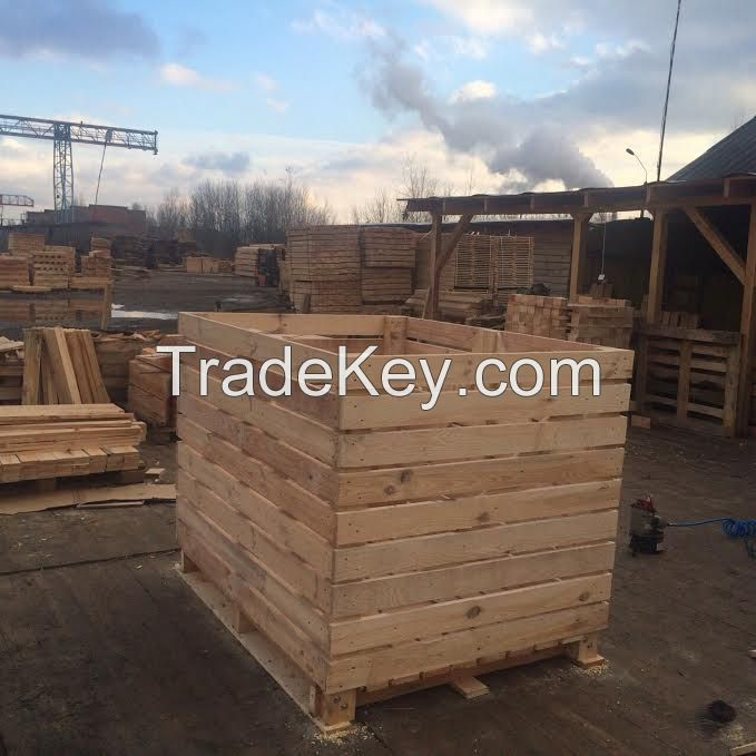 new wooden crates