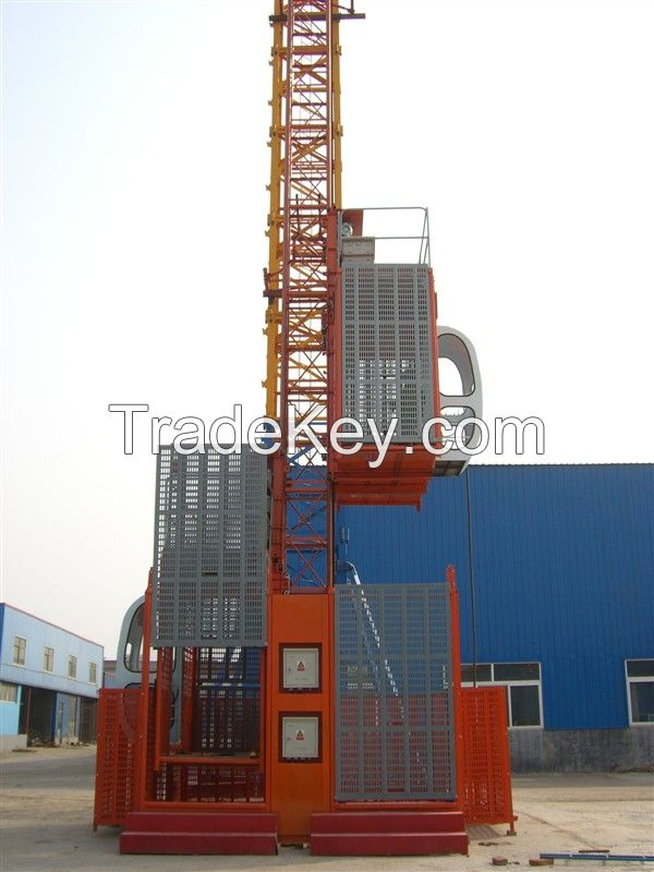 stable high speed 1t 2t 3t construction hoist