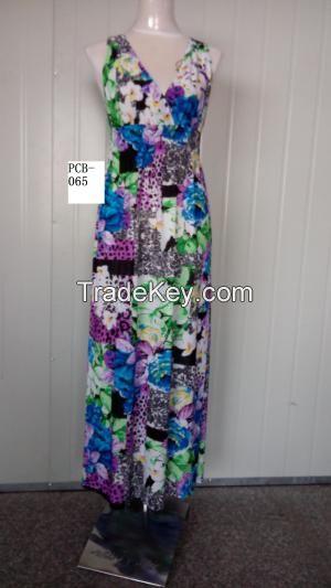 New Fashion Beautiful Sleeveless Long Dress Party Evening Dressing