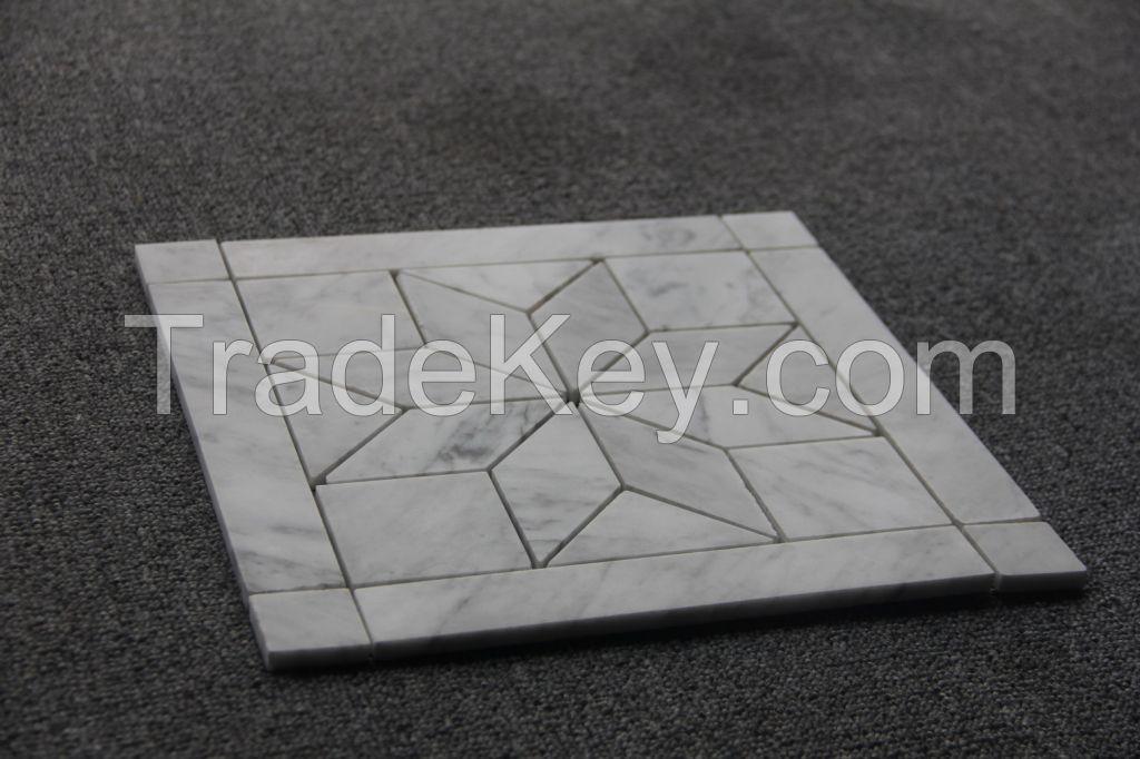 Venato Carrara Tile with Flower Pattern