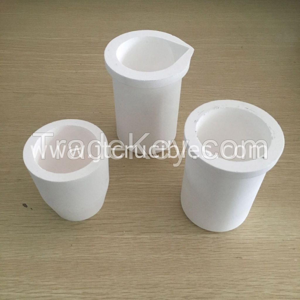 High pure fused silica quartz crucibles on sale