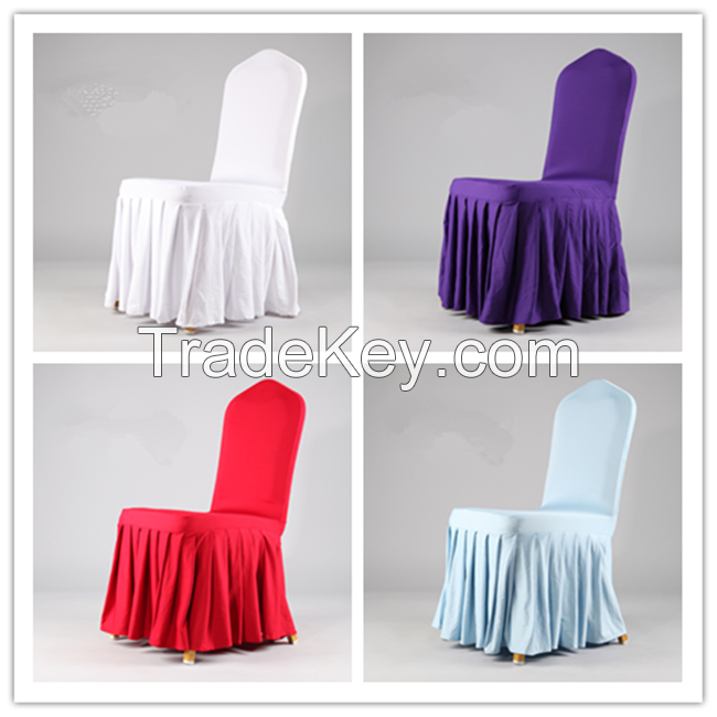 Spandex hotel chair cover wedding plastic