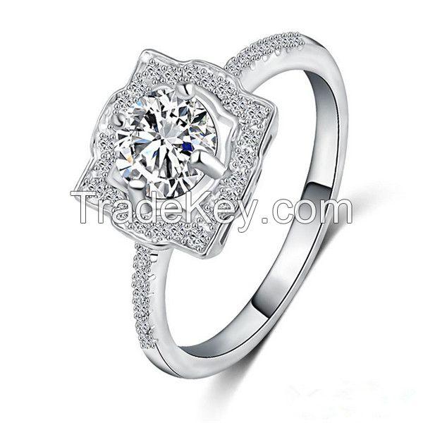 Latest Silver Gemstone Weddig Ring Jewelry