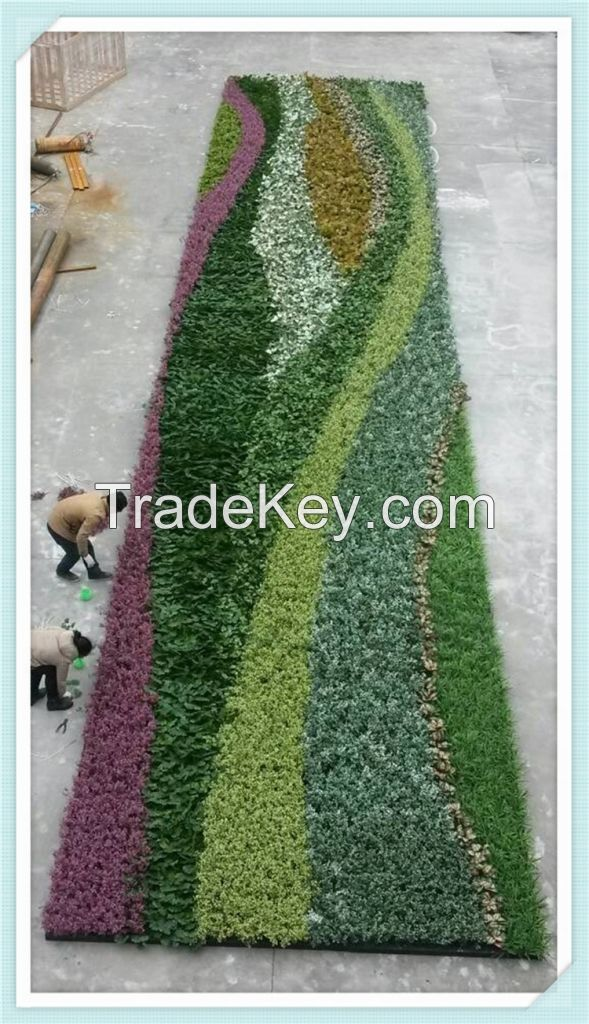 Wholesale Cheap HQ plastic artificial plant for garden vertical green