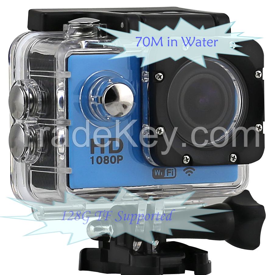 1080p 30fps wifi supported action camera
