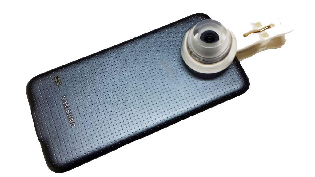 Portable microscope for smartphone