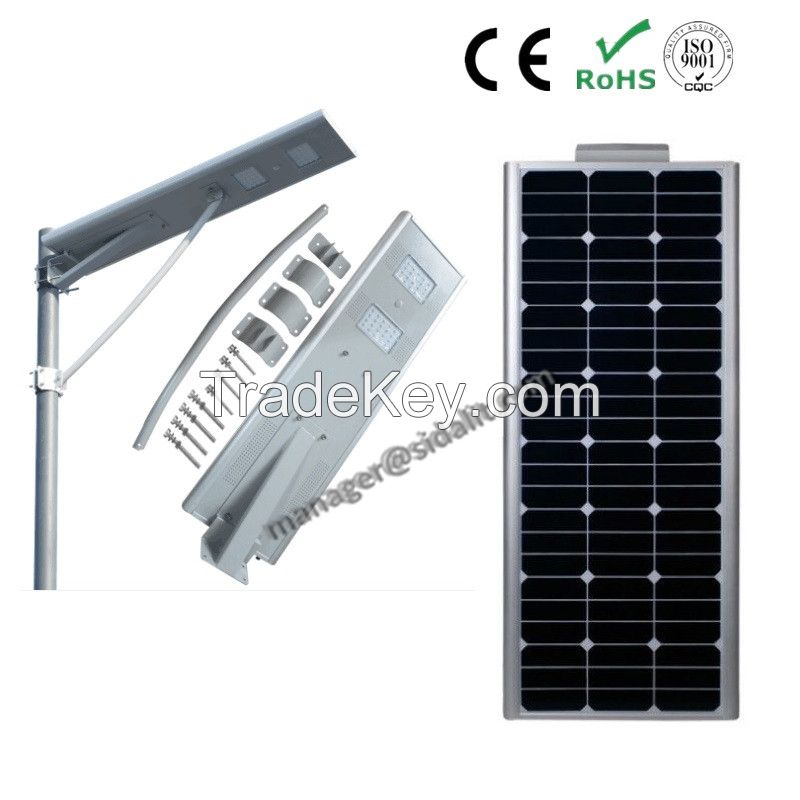 IP65 standard adjustable 60w  solar street light