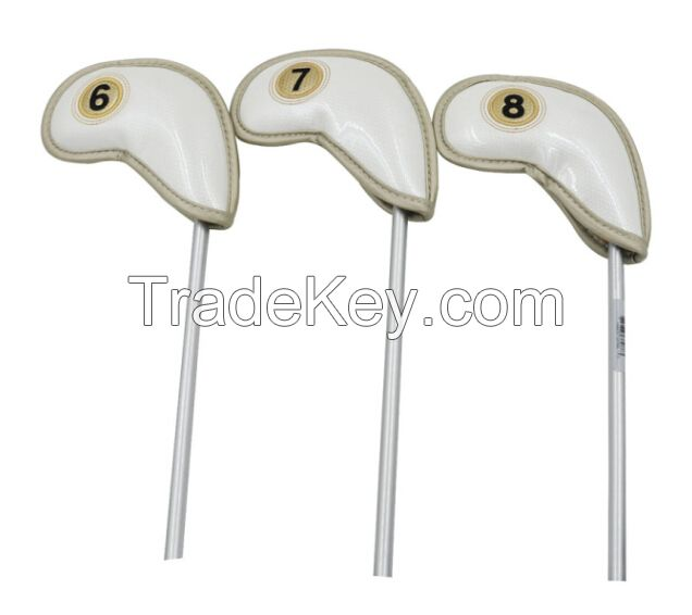 10pcs per set quality PU leather  golf club headcover