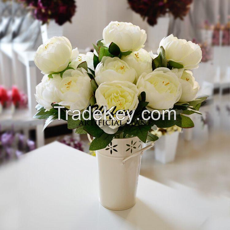 5 people fake flower peony flower decoration floor