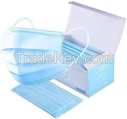 PROTECTION FROM NOVEL CORONAVIRUS DISPOSABLE MEDICAL 3 LAYER FACE MASK / 3 PLY SURGICAL FACE MASK WITH EARLOOP