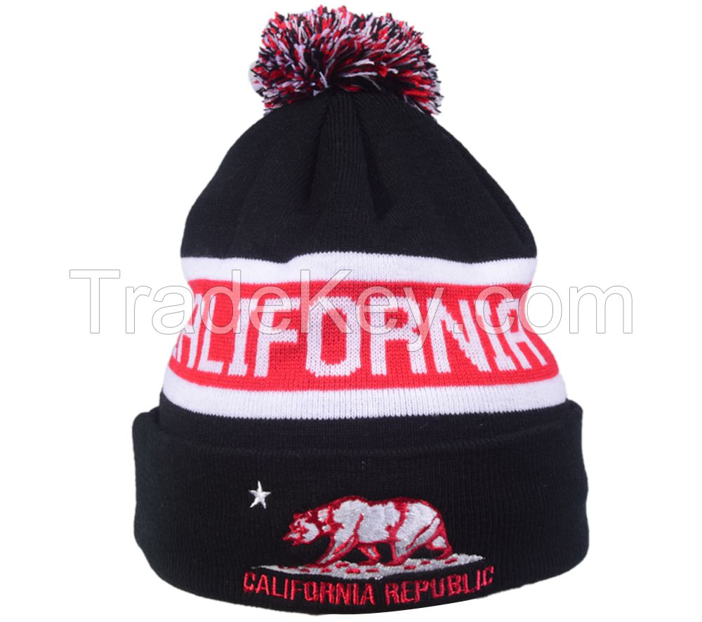 Embroideried beanie
