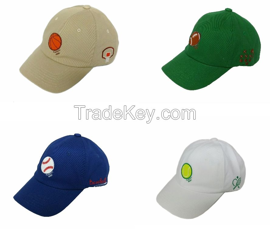 FLAT FITTY BALL CAP Sports Game Line with SNAP LINK