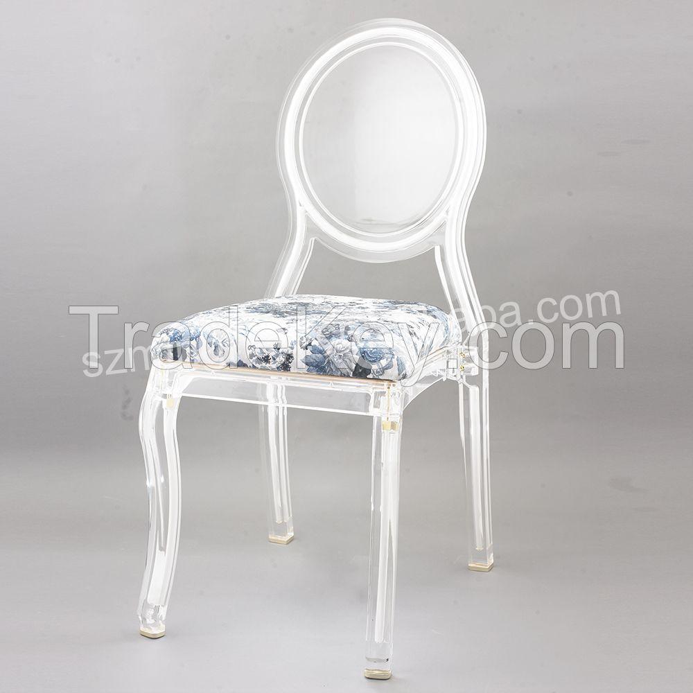 2015 Modern design cheap LED light acrylic dining chairs