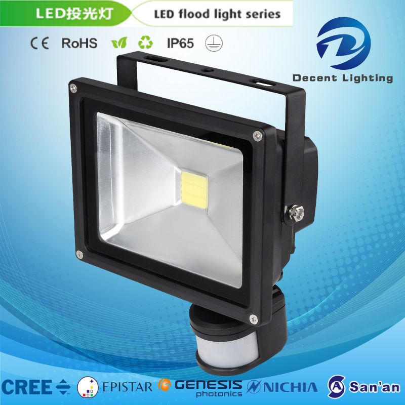 LED Sensor Flood Light Outdoor Yard Garden Square Security Aluminum Lamp Sensor High Power Projector Light