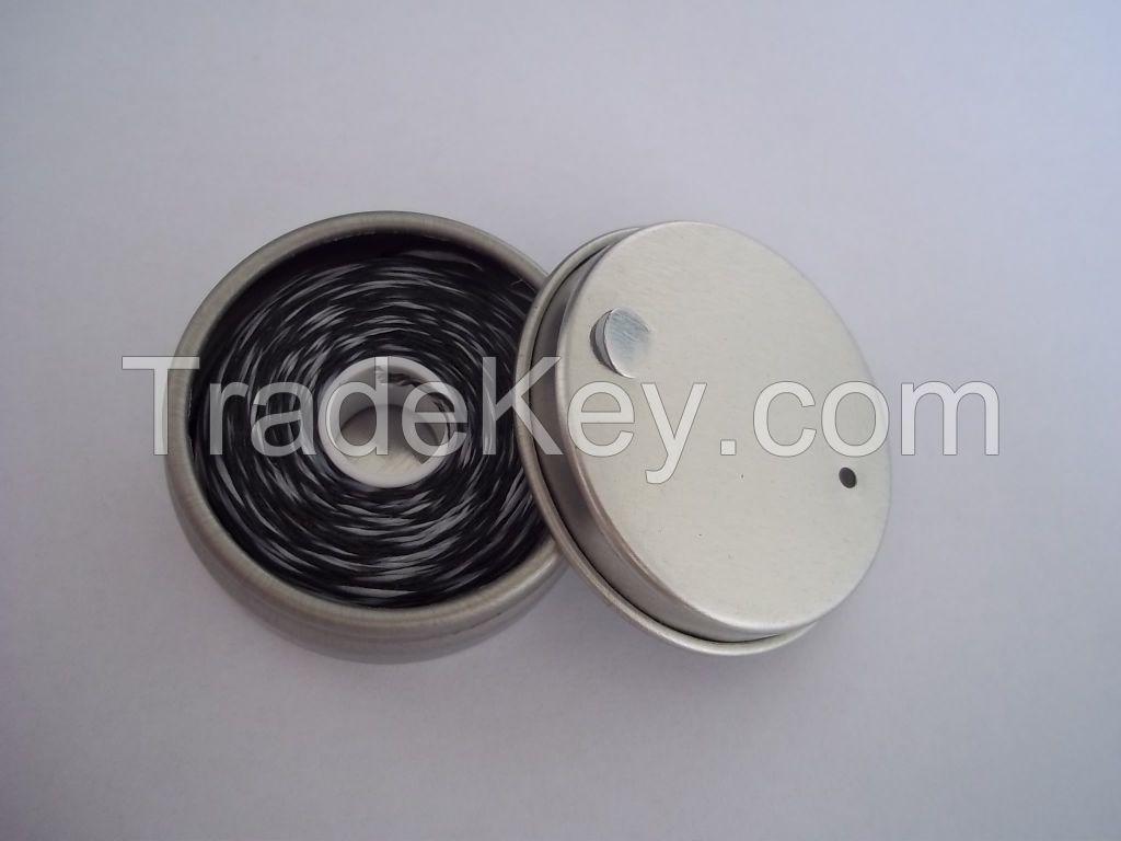 50m nature silk dental floss in tin box