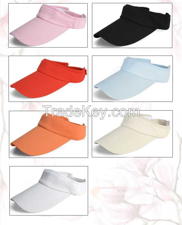 Promotional High Quality Dry Fit Breathable Mesh Fabric Sun Visor
