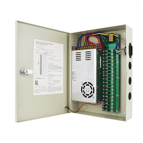 switching power supply 18CH centralized power supply box AC to DC power supply CCTV camera power supply