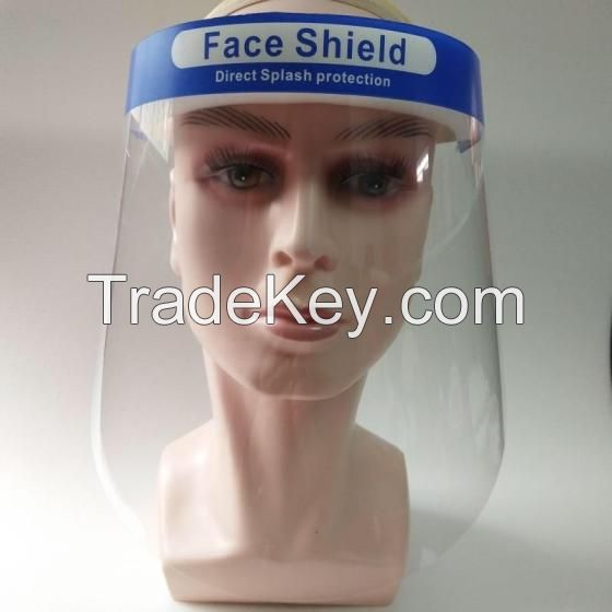 Face Sheild Blue and White Protective Safety Face Shield / Face Shield Hats