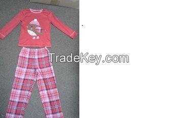 Girls PJ Set 9,000 Pcs. Size 2-3 to 13-14.  100% Cotton, RED Color. Original Packaging. $9.00 Ex.Miami.